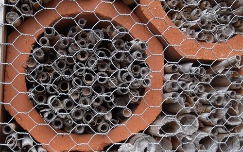 Insektenhaus Halme